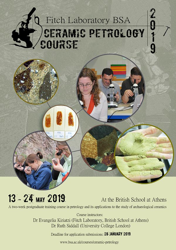 Introduction to Ceramic Petrology Course 2019