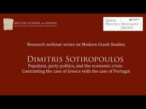 "Dimitris Sotiropoulos, ""Populism, party politics, and the economic crisis"""