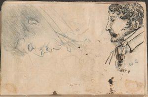 Self? portrait of William Gell (Notebook 4, GELL 4534c)