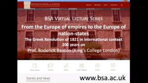 "Roderick Beaton, ""From the Europe of empires to the Europe of nation-states: The Greek Revolution of 1821 in international context"""