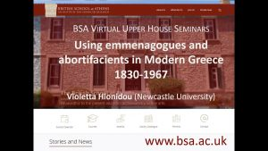 "Violetta Hionidou, ""Using emmenagogues and abortifacients in Modern Greece, 1830-1967"""