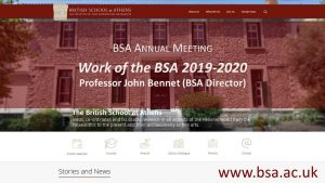"John Bennet, ""Work of the BSA 2019-2020"""