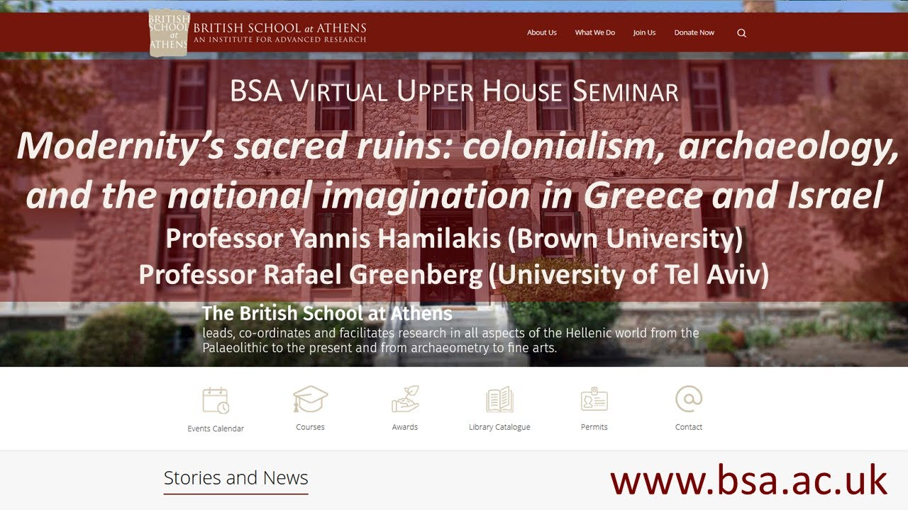 """Yannis Hamilakis & Rafael Greenberg, """"Modernity's sacred ruins: colonialism, archaeology, and the national imagination in Greece and Israel"""""""