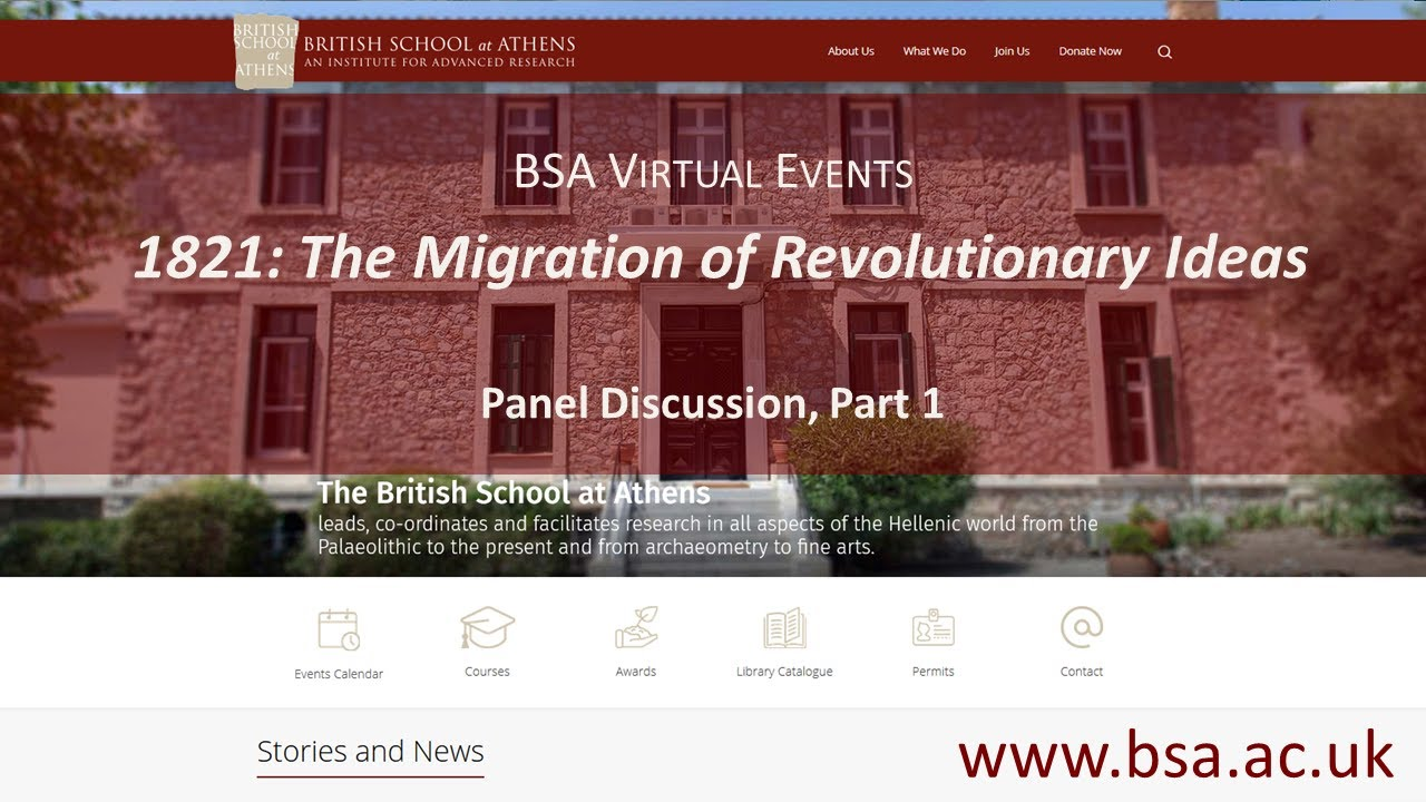 """Panel Discussion: """"1821: The Migration of Revolutionary Ideas"""" (Part 2)"""