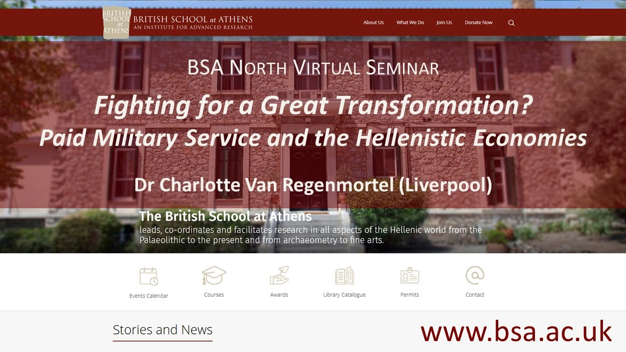"""Charlotte Van Regenmortel, """"Fighting for a Great Transformation? Paid Military Service and the Hellenistic Economies"""""""