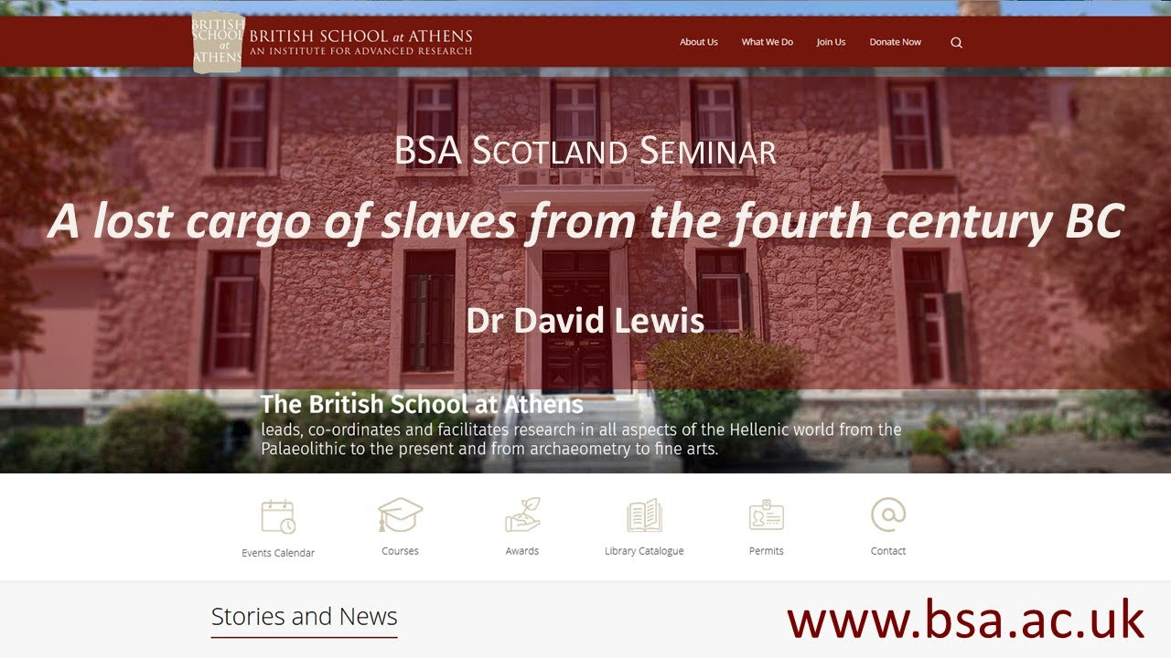 """David Lewis, """"A lost cargo of slaves from the fourth century BC"""""""
