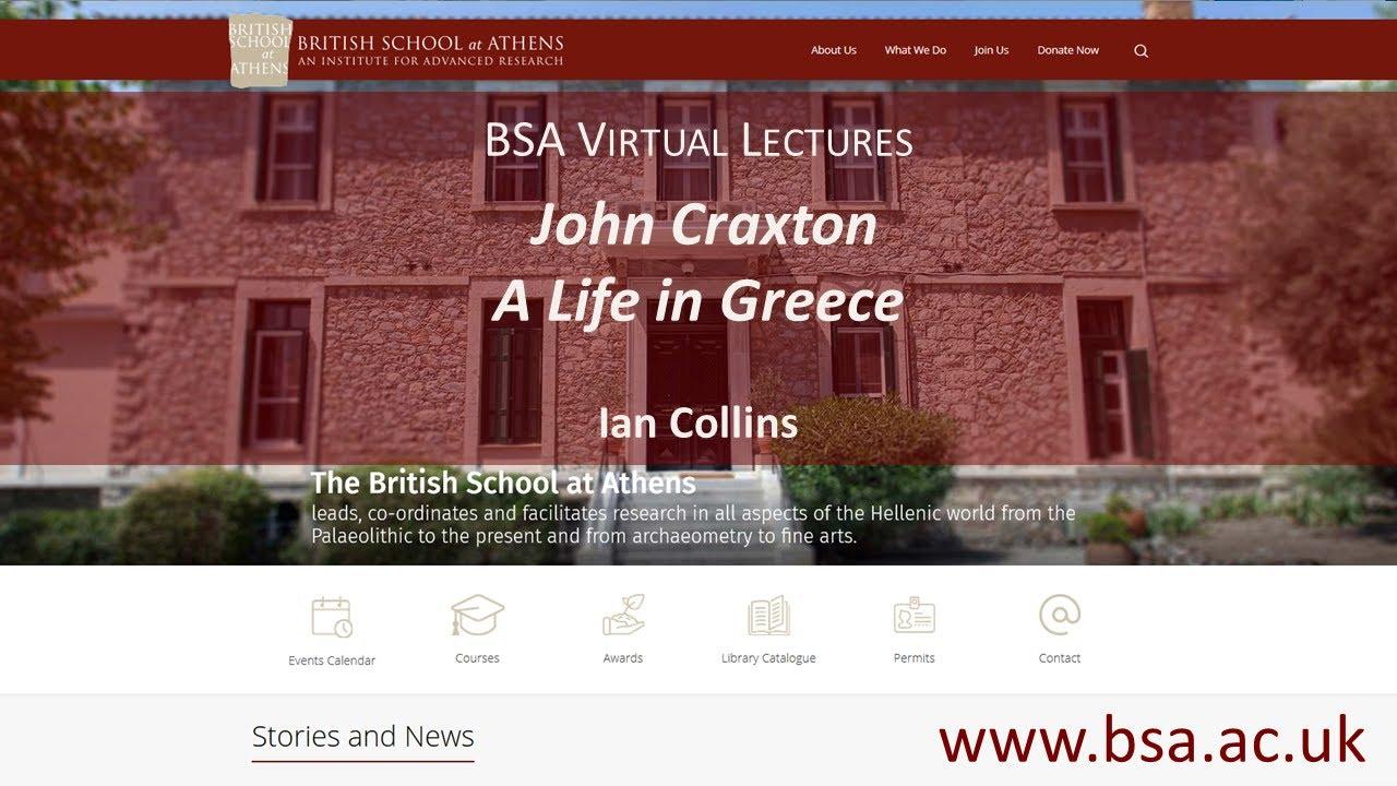 "Ian Collins, ""John Craxton: A Life in Greece"""