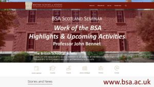 "John Bennet, ""Work of the BSA - Highlights and Upcoming Activities"""