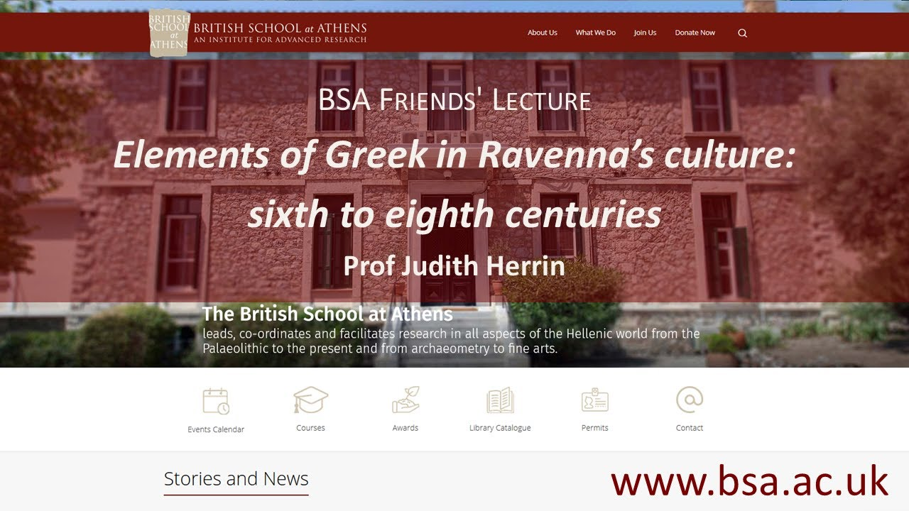 """Judith Herrin, """"Elements of Greek in Ravenna's culture: sixth to eighth centuries"""""""